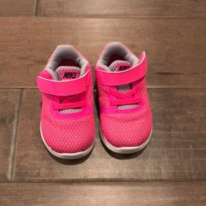 Toddler Nike Free Run shoes.